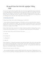 Bí quyết làm bài thi trắc nghiệm Tiếng Anh pdf