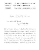 Đề thi chọn học sinh giỏi môn vật lý lớp 12 tỉnh Nghệ an năm 2009 - 2010 - bảng B docx