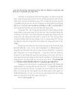 Luận văn tốt nghiệp: Những thách thức đối với Việt Nam trong việc xuất khẩu khi Trung Quốc gia nhập WTO phần 1 pps