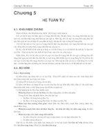 Giáo trình -Kỹ thuật số và mạch logic-chương 5 pdf
