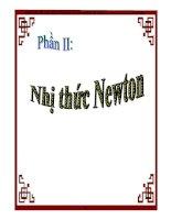 Chuyên để Nhị thức Newton và công thức tổ hợp - 1 doc