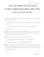 BÀI TẬP TÍNH CHU KÌ & NĂNG LƯỢNG TRONG DAO ĐỘNG ĐIỀU HÒA CỦA CON LẮC LÒ XO pdf