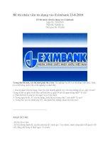Đề thi nhân viên tín dụng vào Eximbank 23-8-2010 pps
