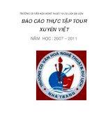 TRƯỜNG CĐ VĂN HÓA NGHỆ THUẬT VÀ DU LỊCH SÀI GÒN BÁO CÁO THỰC TẬP TOUR XUYÊN_4 pptx