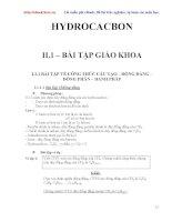 bài tập hydrocacbon và hướng dẫn giải chi tiết potx