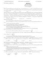 THI THỬ ĐẠI HỌC MÔN VẬT LÝ KHỐI A ĐỀ SỐ 13 - TRƯỜNG THPT PHAN BỘI CHÂU ppsx
