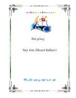 Bài giảng Suy tim (Heart failure) pot