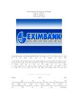 Đề thi nhân viên tín dụng vào Eximbank ppt