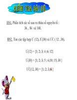 bài giảng toán 6 ước chung lớn nhất khuê