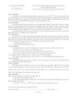 Đề thi học sinh giỏi tỉnh Vĩnh Phúc môn hóa học lớp 9 năm 2009 - 2010 pdf