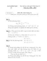 Đề thi học sinh giỏi môn toán lớp 12 chuyên tỉnh Thừa Thiên Huế năm 2006 - 2007 pot