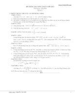 Đề thi thử toán - 7(có đáp án kèm theo) ppt
