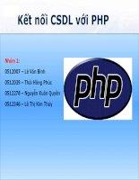 Kết nối CSDL với PHP