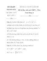 Đề thi học sinh giỏi môn toán lớp 12 trường THPT Hậu Lộc 3 tỉnh THanh Hóa pptx