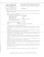 Đề thi môn tổ chức công tác kế toán viện đại học mở Hà Nội - để thi 02 pot