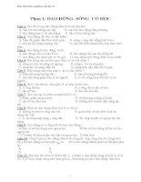 Bộ đề thi trắc nghiệm vật lý 12 pptx