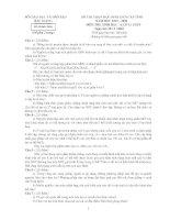 Đề thi chọn học sinh giỏi môn sinh học lớp 12 tỉnh Bắc Giang năm 2009 - 2010 - đề 1 pdf