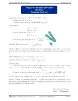 Đề kiểm tra định kỳ luyện thi đại học môn toán - Đề số 9 ppsx