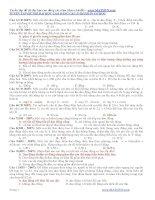Tuyển tập đề thi đại học cao đẳng Vật Lý các năm theo chủ đề ppsx