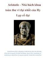 Aristotle - Nhà bách khoa toàn thư vĩ đại nhất của Hy Lạp cổ đại pot
