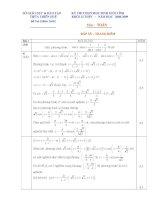 Đề thi học sinh giỏi môn toán lớp 12 chuyên tỉnh Thừa Thiên Huế năm 2008 - 2009 - đề 4 pdf