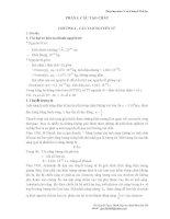 Bài giảng môn cơ sở lý thuyết hoá học - Phần 1 - Cấu tạo chất ppsx