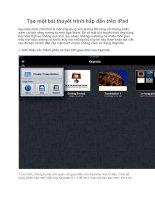 Tạo một bài thuyết trình hấp dẫn trên iPad Keynote dành cho iPad pptx