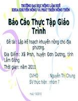 Lập kế hoạch khuyến nông cho địa phương Xã Proh, huyện Đơn Dương, tỉnh Lâm Đồng