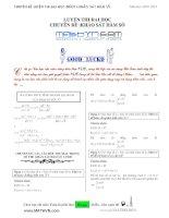 Chuyên đề luyện thi đại học môn toán