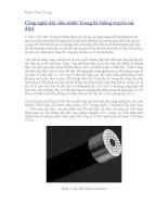 Công nghệ dây siêu nhiệt Trong hệ thống truyền tải điện docx