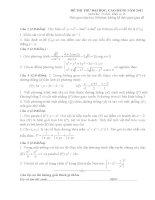 Đề thi thử toán - 1(có đáp án kèm theo) pot