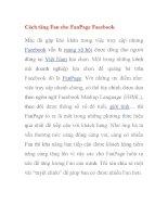 Cách tăng Fan cho FanPage Facebook pptx