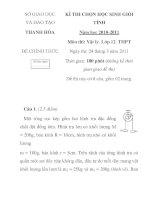 Đề thi chọn học sinh giỏi môn vật lý lớp 12 tỉnh Thanh Hóa năm 2010 - 2011 doc
