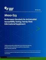 CLSI 2013: performance standard for antimicrobial susceptibility testing 2013