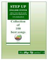 100 bài hát song ngữ Anh Việt