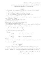 Bài giảng môn cơ sở lý thuyết hoá học - Chương 2 - Nguyên lý II của nhiệt động học chiều và giới hạn tự diễn biến của quá trình pptx