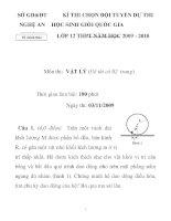 Đề thi chọn học sinh giỏi môn vật lý lớp 12 tỉnh Nghệ an năm 2009 - 2010 - đề 2 pdf