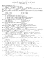 Ngân hàng đề thi trắc nghiệm tin học văn phòng (có đáp án) docx