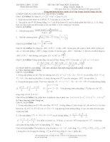 Đề thi thử đại học năm 2011 môn toán trường THPT Tứ Kỳ ppt