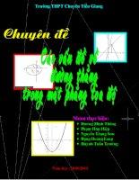 Chuyên đề đường thẳng trong mặt phẳng tọa độ pptx