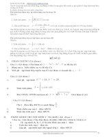 Tổng hợp 100 đề thi thử tốt nghiệp THPT phần 6 ppsx