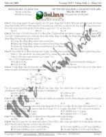 ĐỀ THI THỬ ĐẠI HỌC, CAO ĐẲNG NĂM 2009 Môn thi: HOÁ HỌC- Trường THPT Thống Nhất A - Đồng Nai pdf