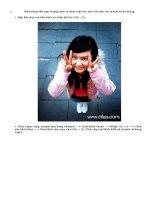 Bài hướng dẫn này sẽ giúp Bạn có được một bức ảnh với màu sắc lạ mắt và ấn tượng. potx