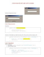 Cách truyền dữ liệu giữa 2 form ppt