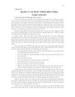 Giáo trình Quản lý tổng hợp vùng ven bờ part 5 docx
