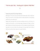 Văn hóa giày dép – chuông gió và gheisa Nhật Bản 1 ppsx