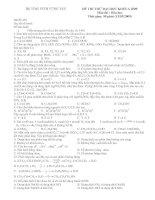 Đề thi thử hóa học - THPT VŨNG TÀU docx