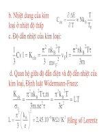 Vật lý đại cương - Vật rắn tinh thể phần 3 pot