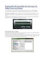 Hướng dẫn đặt mật khẩu cho thư mục với IOBit Password Folder pot