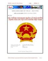 Tiểu luận: Hệ thống Cơ quan Quản lý Nhà Nước Cộng Hòa Xã Hội Chủ Nghĩa Việt Nam docx